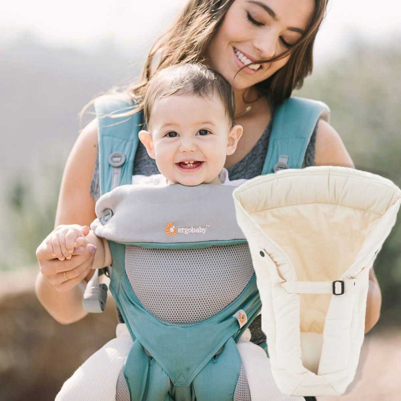 a7b8fc870d06 Ergobaby 360 carrier and Infant Insert. Icy Mint, Cool Air Mesh