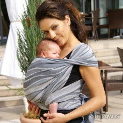 DIDYMOS wrap, Waves Silver